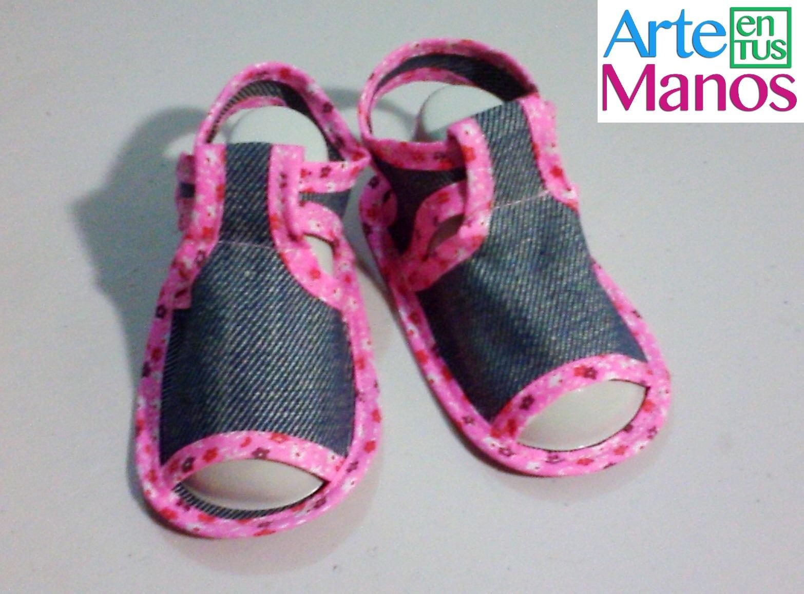 017a774a1 Arte en Tus Manos con Lili y Sam  Sandalias para bebé en tela paso a ...