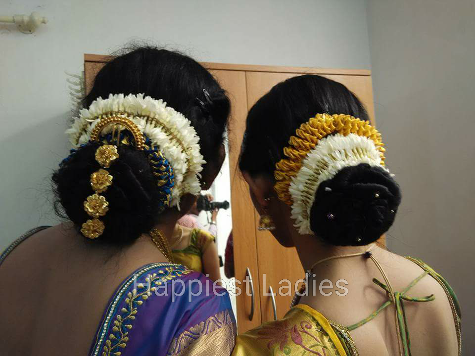 South Indian Bun Hairstyles For Wedding Happiest Ladies