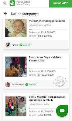 Kampanye Galang Dana Online