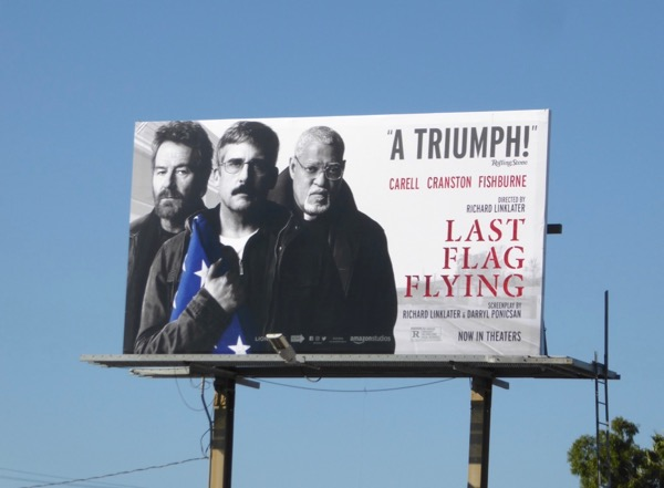 Last Flag Flying movie billboard
