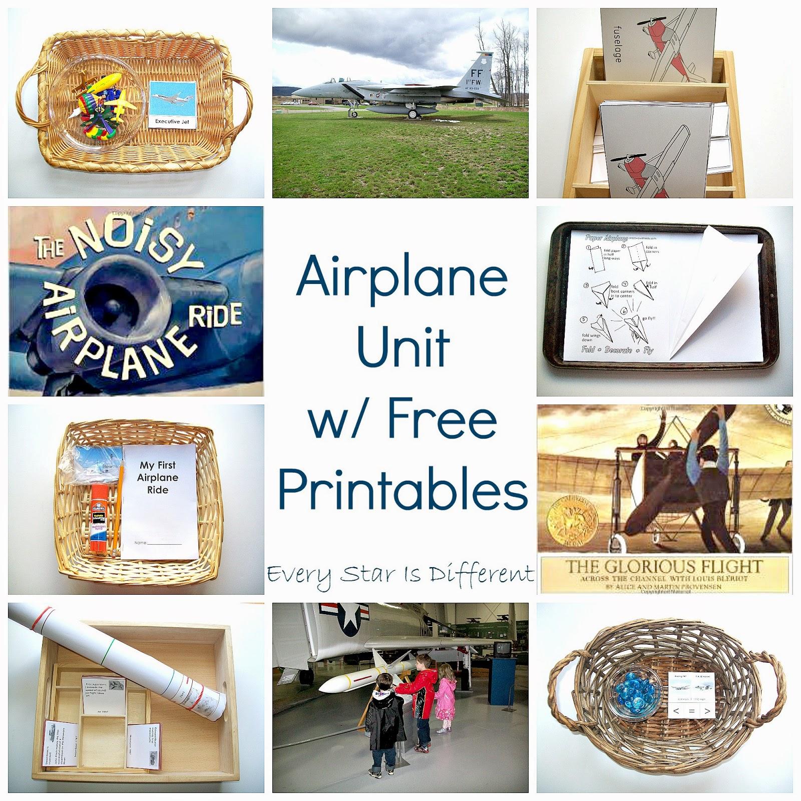 Airplane Unit W/ Free Printables