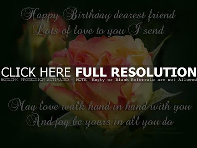 Happy Birthday Wises Cards For friends: happy birthday dearest friend lots of love to you i send