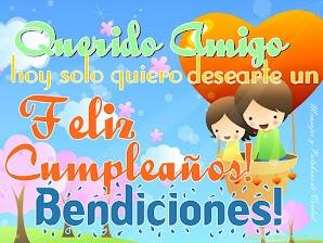 Tarjetas de Cumpleaños para Felicitar a un Amigo