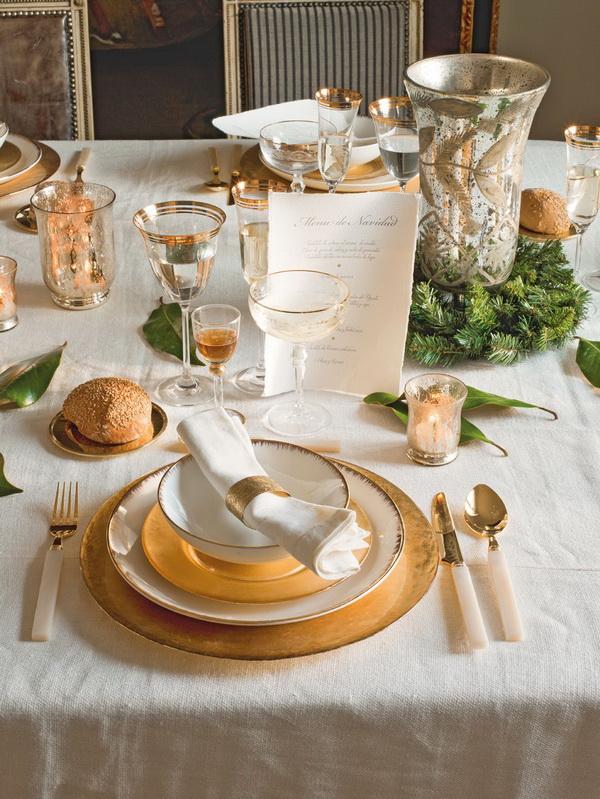 Xmas Dining Table Decor Centerpieces