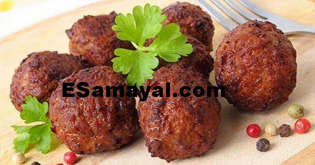 இறைச்சி வடை செய்முறை / Meat vadai recipe !