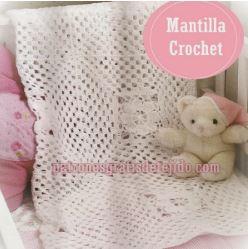 mantilla para bebe muy facil de tejer - crochet