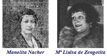 Manolita Nacher y María Lluïsa de Zengotita