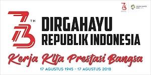 Spanduk Upacara 17 Agustus 2018 dan Logo Resmi 17 Agustus 2018