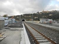 Neue Bahnstation in Diano Marina