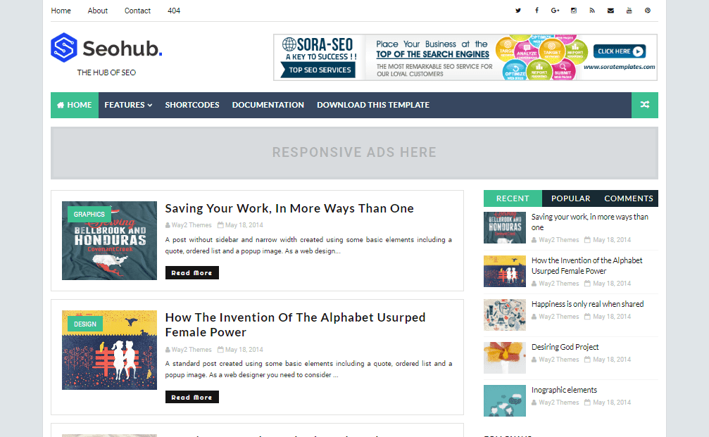 SeoHub Fast Loading Blogger Template | Blogger Templates Gallery