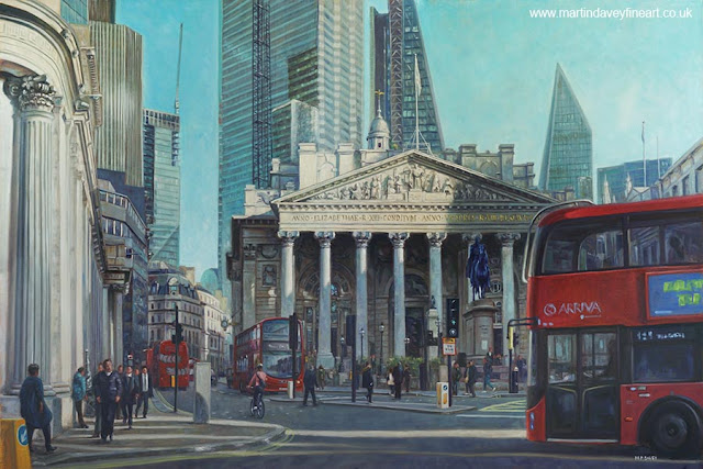 city of London royal exchange artwork artist Martin Davey