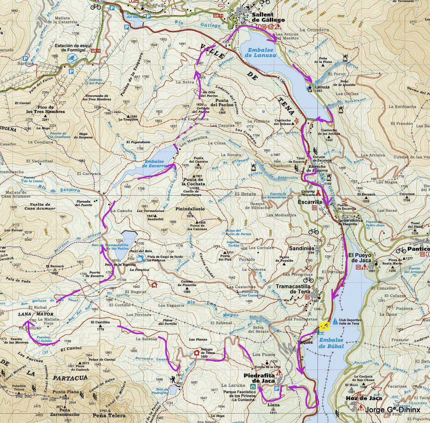 Valle De Tena Mapa.La Meteo Que Viene Btt En Valle Tena Dia 2 Piedrafita