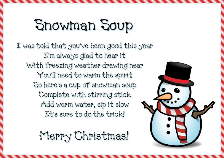 image regarding Snowman Soup Printable Tags called Present The Present Of Snowman Soup!