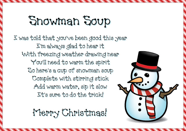Slobbery image throughout snowman soup poem printable