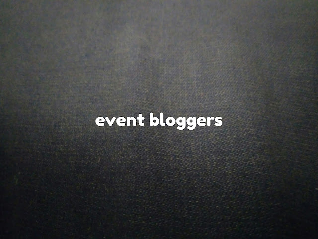 Event bloggers, event blogging