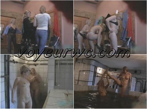 Sexy hidden cam video in the women's public shower room (Hidden Shower 001-058)