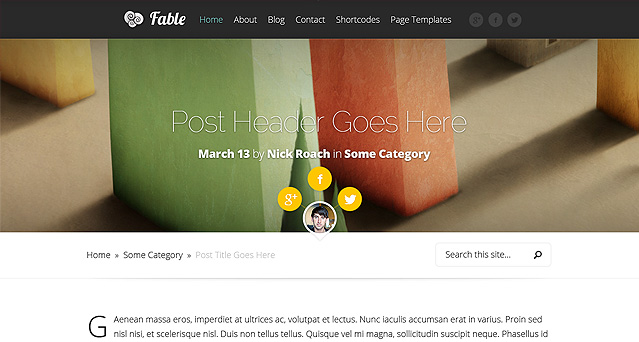 Fable Wordpress Theme V1.6 ELEGANT THEMES