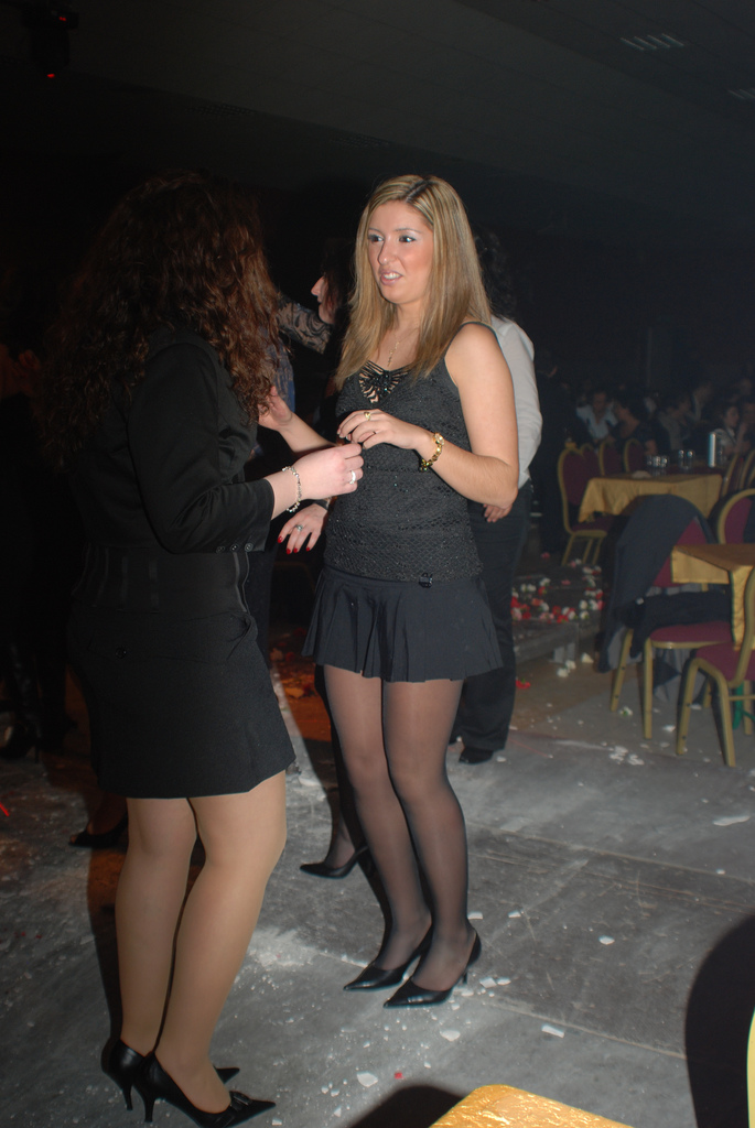 fashion tights skirt dress heels : Party look