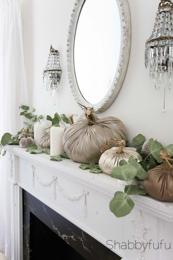 french country mantel fall neutrals