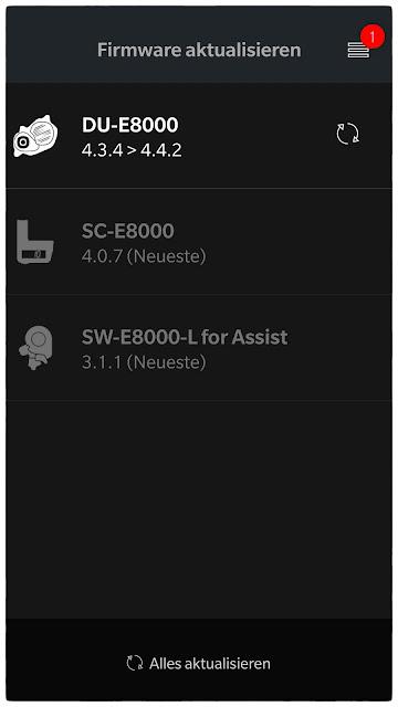 Die Drive Unit, der Shifter und das Display können ein Update über die Shimano App erhalten.