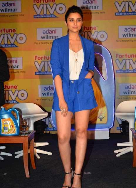 Parineeti Chopra's Hot Legs Shine Out in Shorts and Blazer by Sahil Aneja