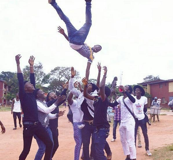 Check out how this Auchi Poly graduate and friends celebrated his graduation