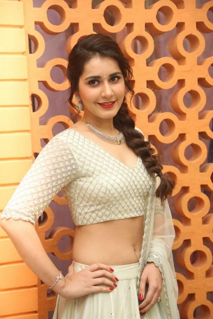 Raashi Khanna Photos At Jai Lava Kusa Theatrical Trailer Launch