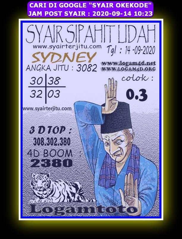 Kode syair Sydney Senin 14 September 2020 135