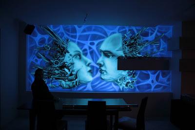Malarstwo ścienne, malowanie obrazów na ścianach mural UV, artystyczne malowanie ścian 3D
