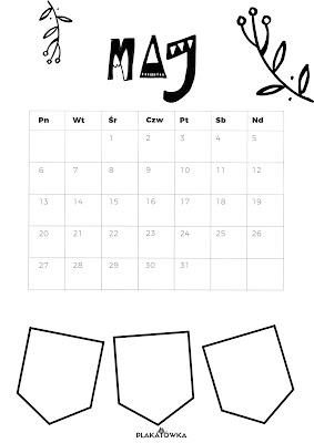 kompletny kalendarz na 2019 rok do druku za darmo