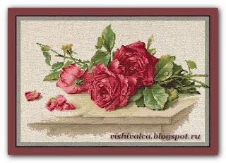 "Luca-S BL22411 ""Trandafiri roşii"""