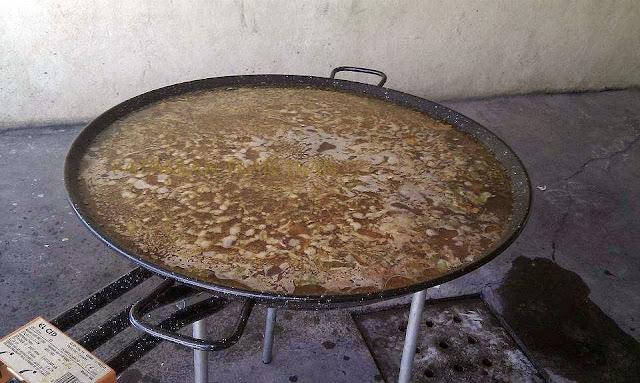 Paella para 40. Benicassim. Blessed summer
