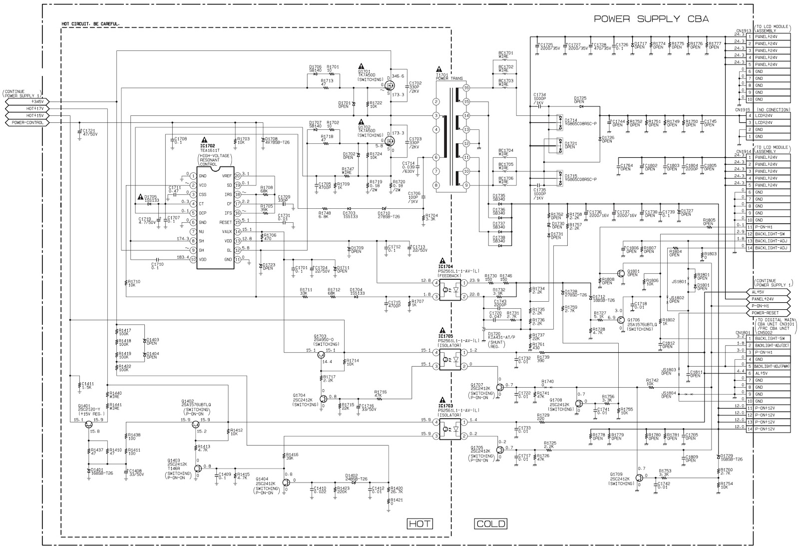 Philips and Haier LCD TV – SMPS Schematic (Circuit Diagram ...