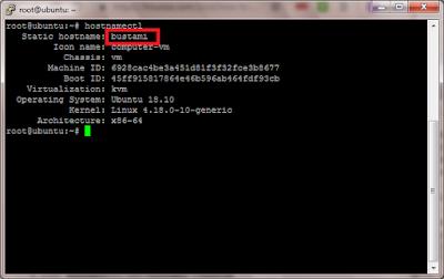 Cara Merubah Hostname di Ubuntu 18.10