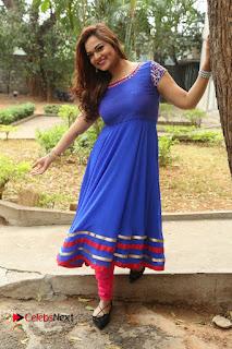 Actress Ashwini Stills in Blue Chudidar at Ameerpet Lo Release Press Meet  0217.JPG