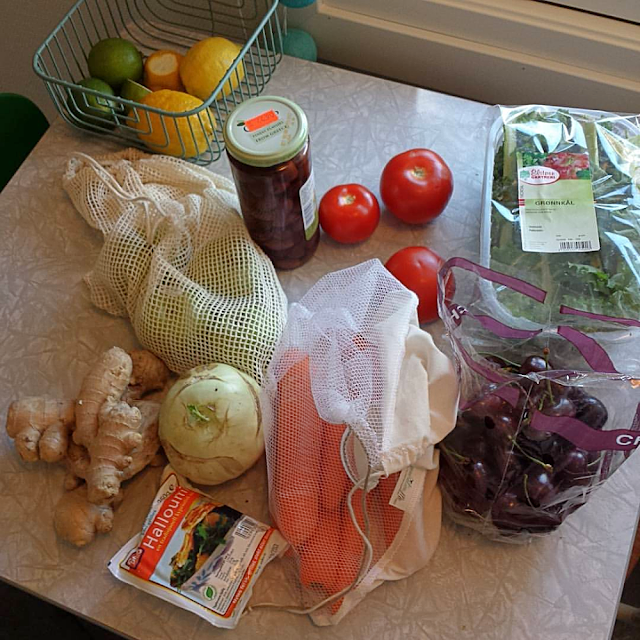 Reusable produce bags for bulk food
