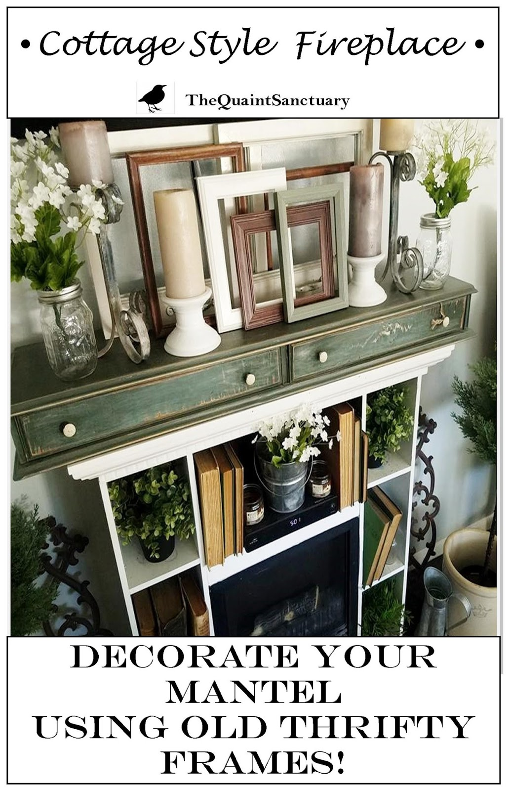 The quaint sanctuary using old frames as cottage style for Bungalow style picture frames