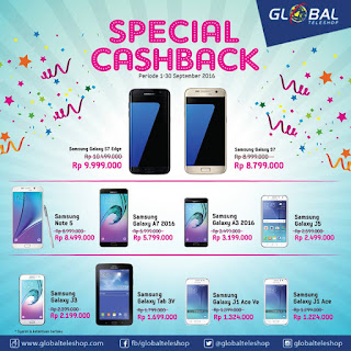 Global Teleshop Spesial Cashback 10 Tipe Samsung Galaxy