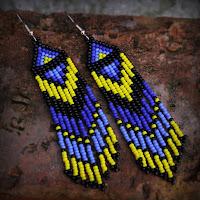купить Длинные яркие серьги в этническом стиле в интернет магазине