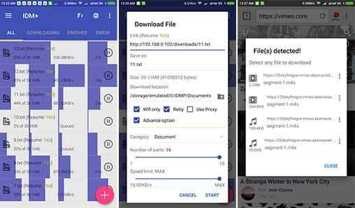 تحميل IDM Plus 2019 اسرع مدير تحميل لتنزيل الملفات من الانترنت لهواتف الاندرويد  IDM 9.5+ مدفوع بدون اعلانات