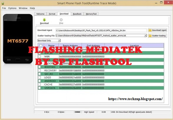 How To Flash Mediatek (MTK) By Using SP Flash Tool