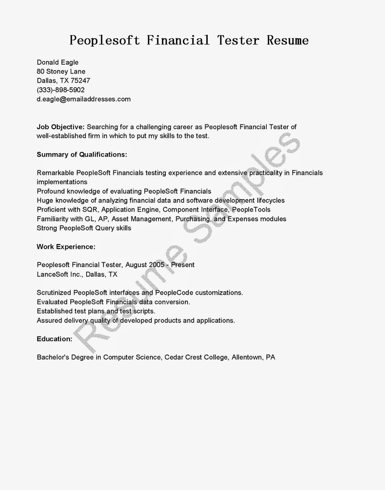 download sap basis resume - People Soft Consultant Resume