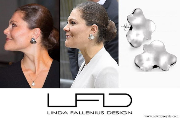 Crown Princess Victoria wore Linda Fallenius Earrings from Orchid Collection