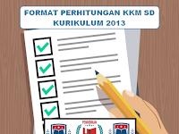 Format Perhitungan KKM SD Kurikulum 2013 Terbaru Tahun 2018/2019