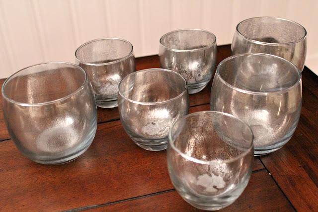 Ten June Diy Mercury Glass Votives