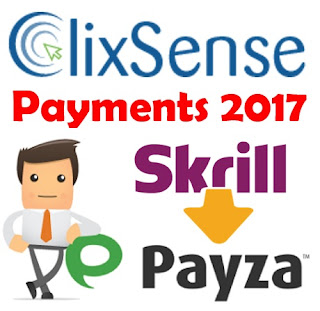 Clixsense payments Payza Skrill 2017