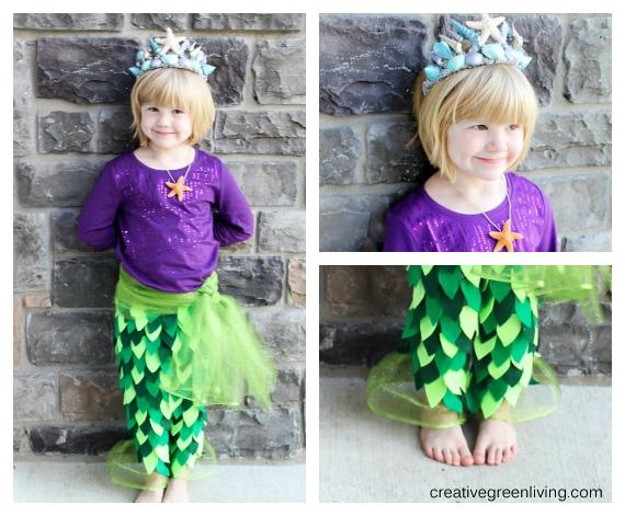 Mermaid Costume Tutorial includes no sew option!  sc 1 st  Creative Green Living & Mermaid Costume Tutorial includes no sew option! - Creative Green ...