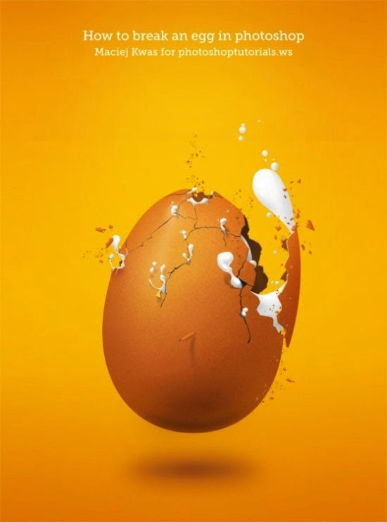 How To Break An Egg In Photoshop
