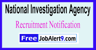 NIA National Investigation Agency Recruitment Notification 2017 Last Date 22-06-2017