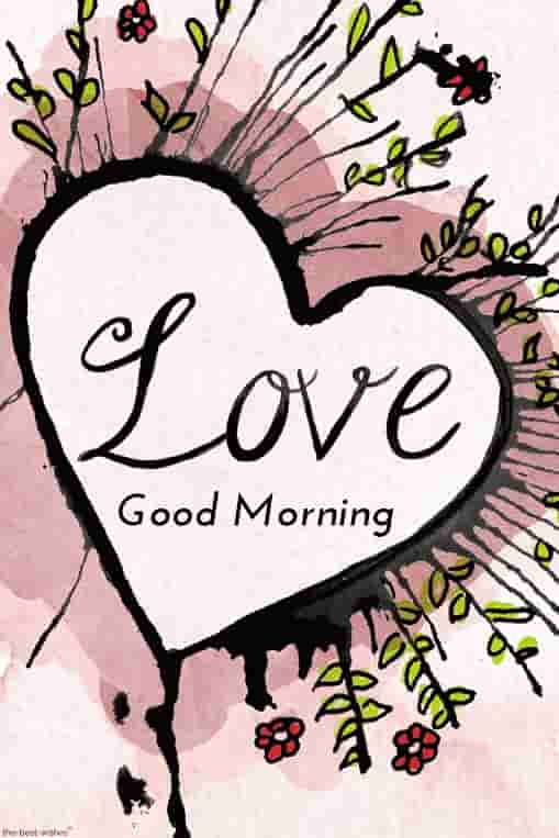 best good morning images for love with heart
